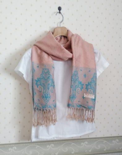 pink color pashmina