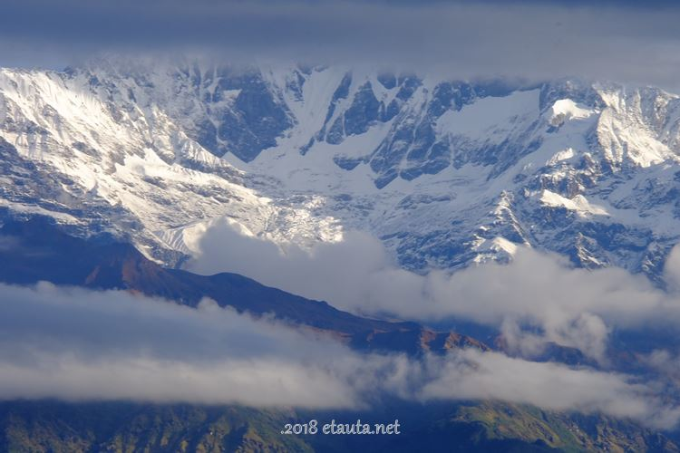 Himalayas in the clouds