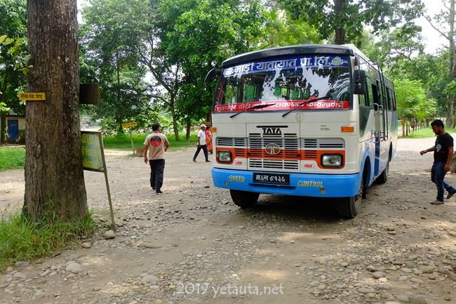 bus ride in chitwan