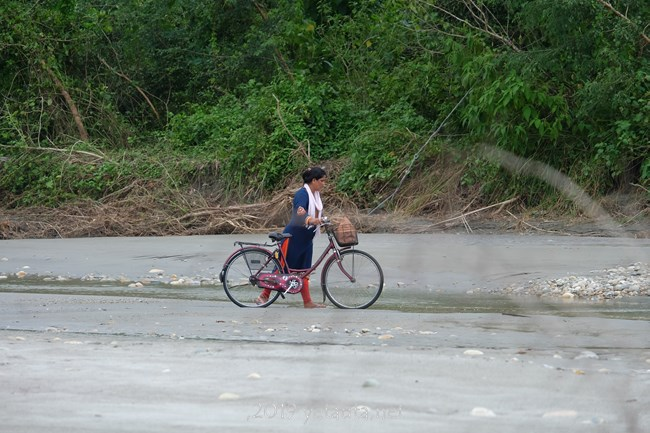 bicycle in river